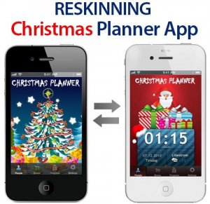 reskinning mobile app