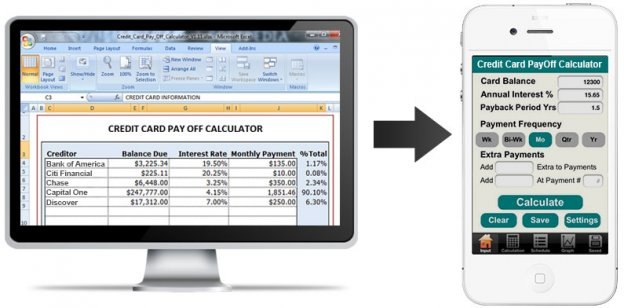 How Converting Excel Credit Card Payoff Calculator To Mobile App Can