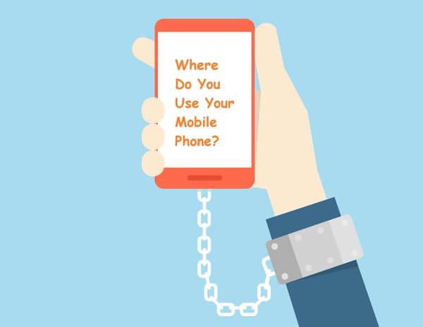 Where do you use mobile phone