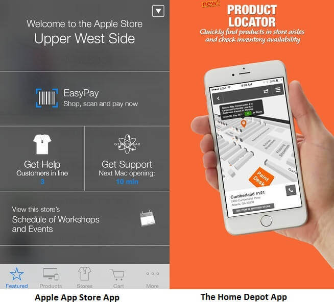 In-Store App Examples