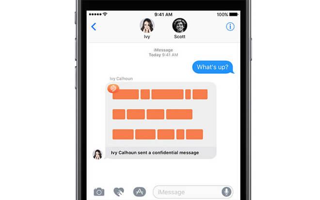 Confide - Private Communication through iMessage