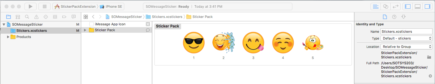 StickerPack App Development