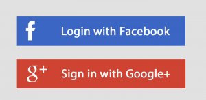 login with FB and G+