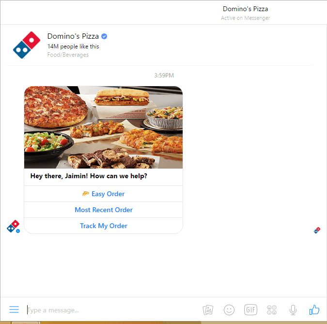 Domino's ChatBot