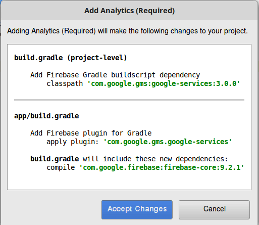 Step 9 Integrate and Use Google Firebase Android Analytics
