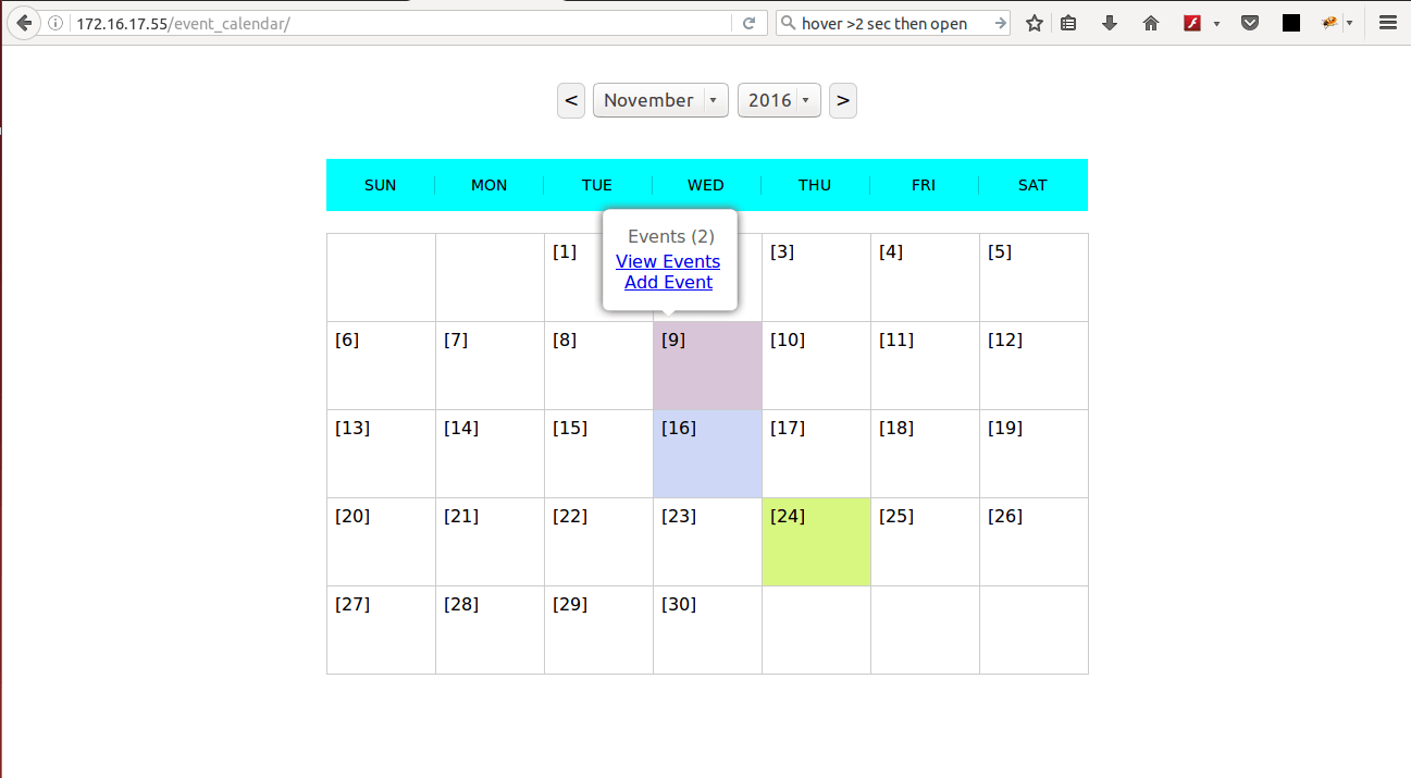Introducing PHP Event Calendar Using JQuery To Manage Events Easily