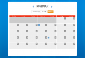 PHP event calendar using jquery