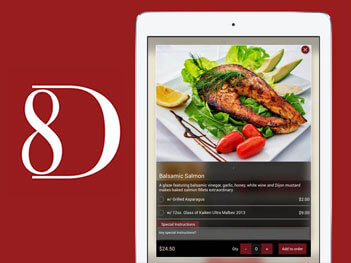Restaurant and food ordering mobile apps build by ios and android gr8dine food recipe ipad forumfinder Images