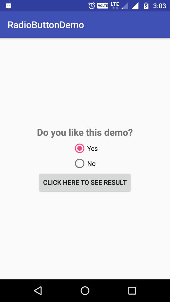 radio button demo