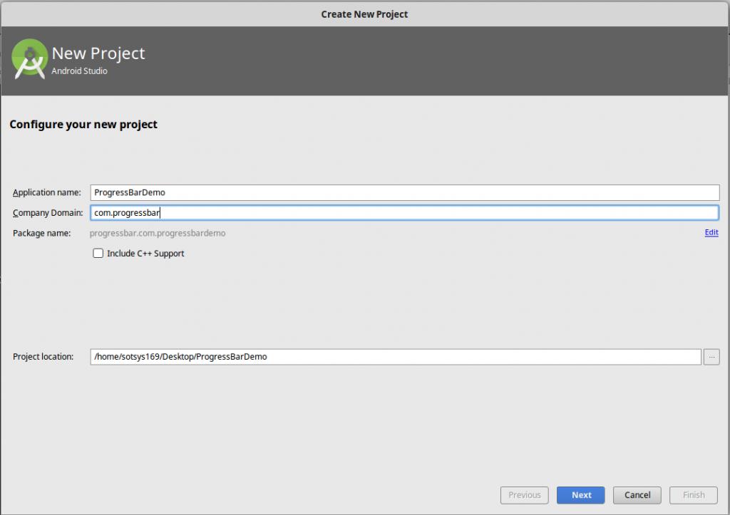 Android progressbar demo