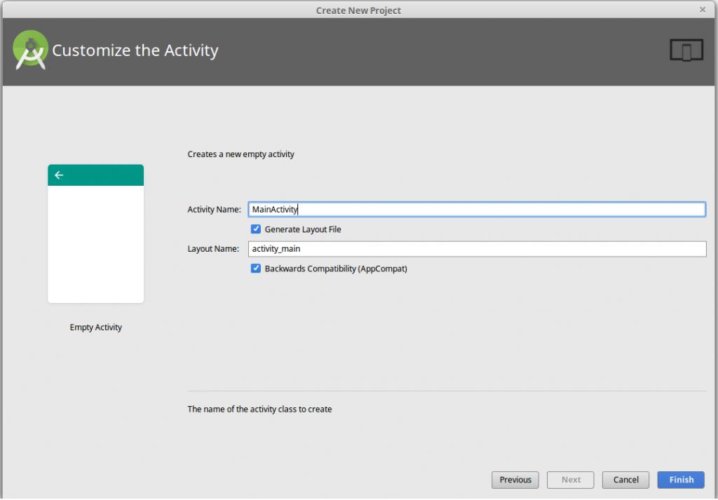 customize the app activity