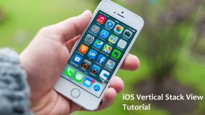 ios vertical stack view tutorial