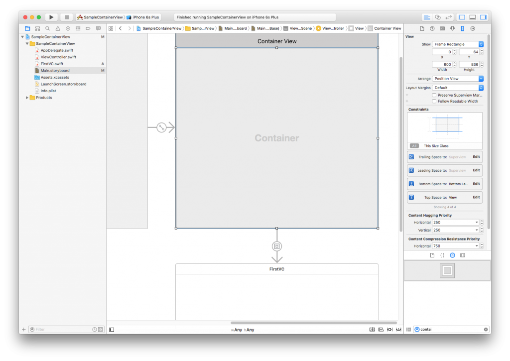 ios container view, Implementing iOS Container View To Create Reusable Components In iPhone App