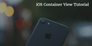 ios container view tutorial