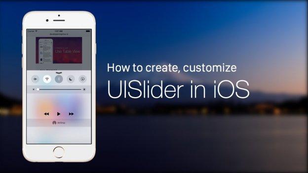 Implement UI Slider in ios