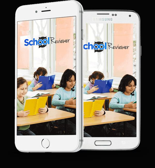 School Reviewer app home screen