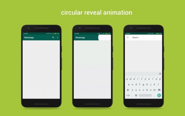 Circular reveal animation android, How to Implement Custom Circular Reveal Animation Android in Material Design