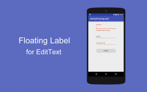 floating label in android