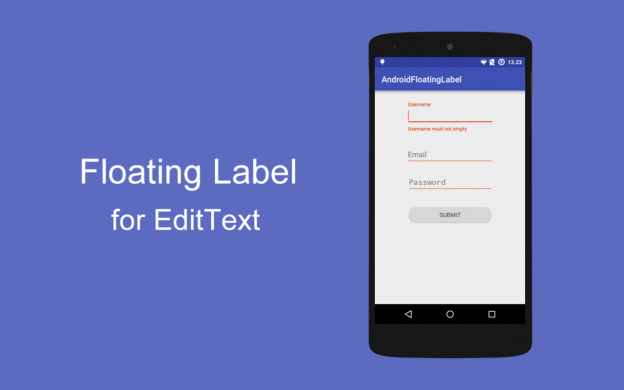Add Floating Label Android For Edit-Text Using Design