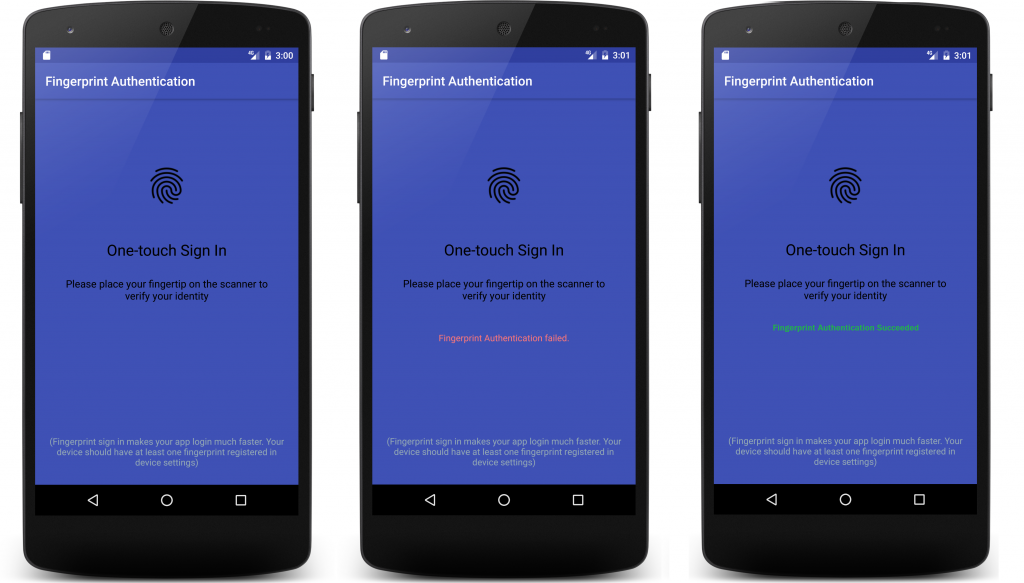 How to Integrate Android Fingerprint API to Confirm User's
