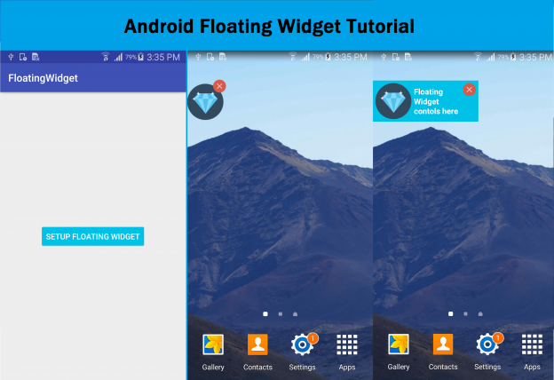 android floating widget