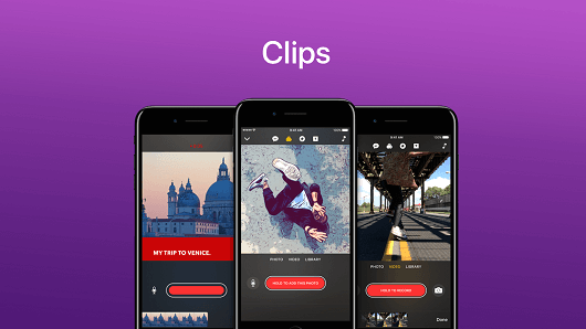 Apple Launches Video Editing App - Clips, to Quickly Make