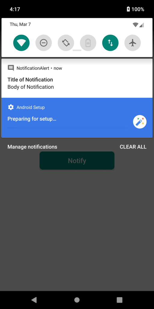 Notification Screen