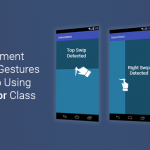 android swipe gestures