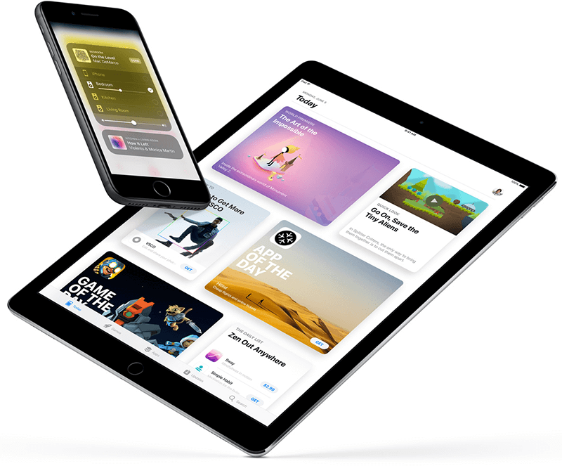 redesign with iOS 11