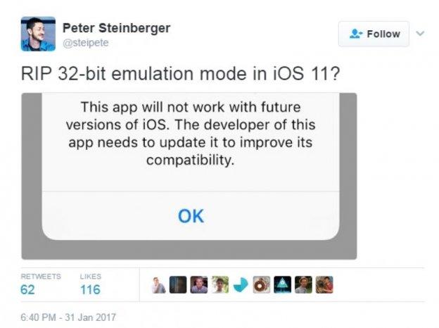 iOS 11 app support