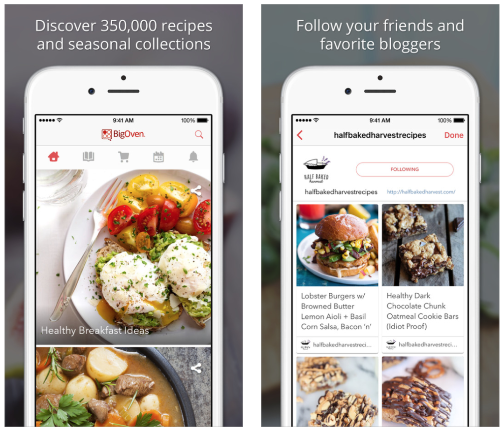 How building a food recipe app can still make over 2 million dollars features of bigoven more than 350000 food recipes forumfinder Image collections
