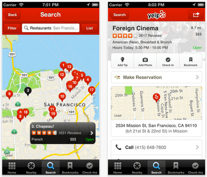 yelp-geolocation