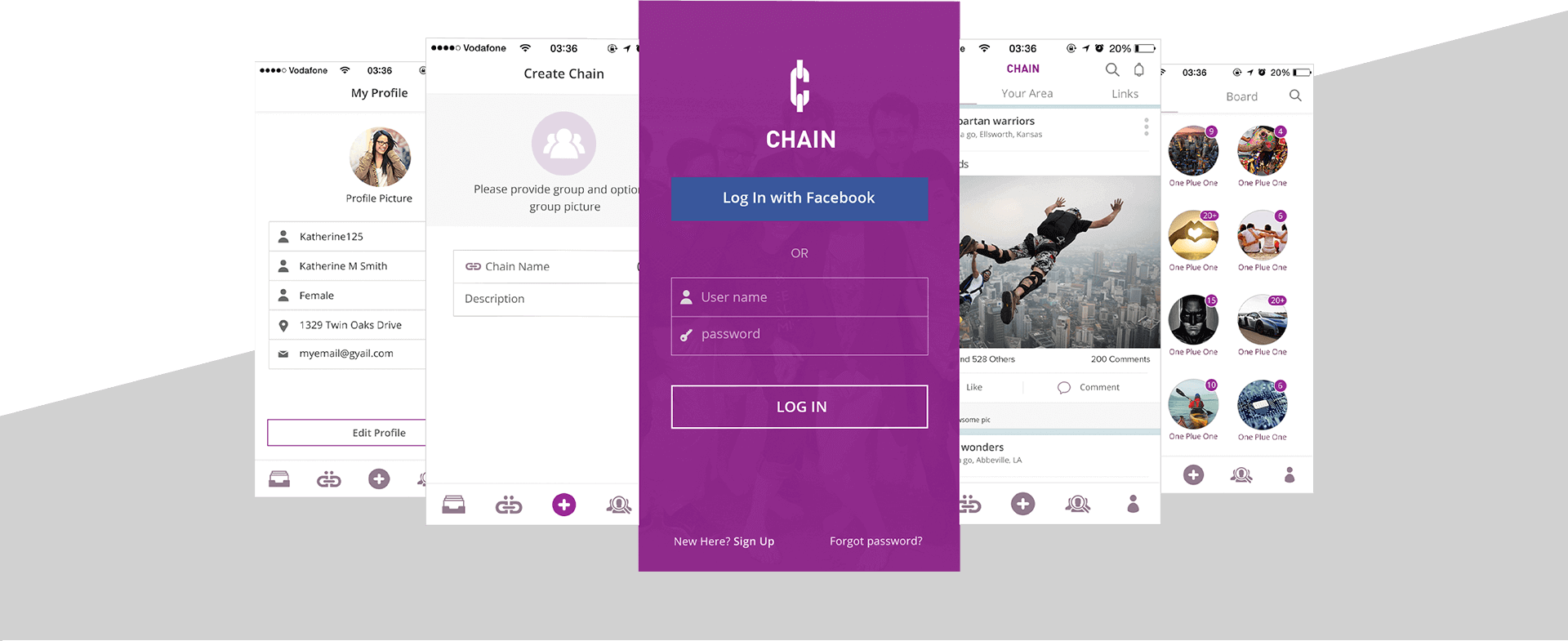 Chain LLC app final outcome