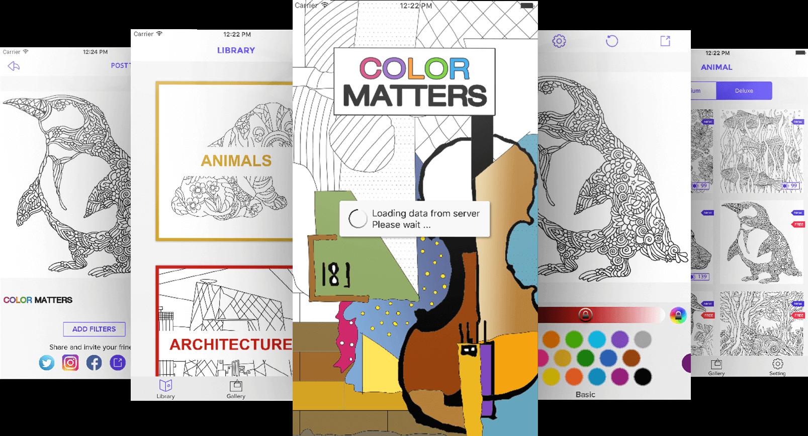 App design of Color Matters