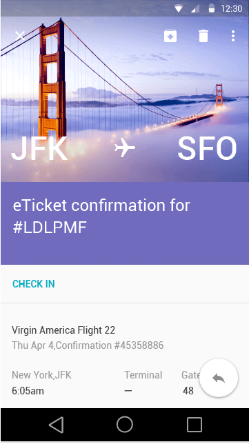 ticket confirmation