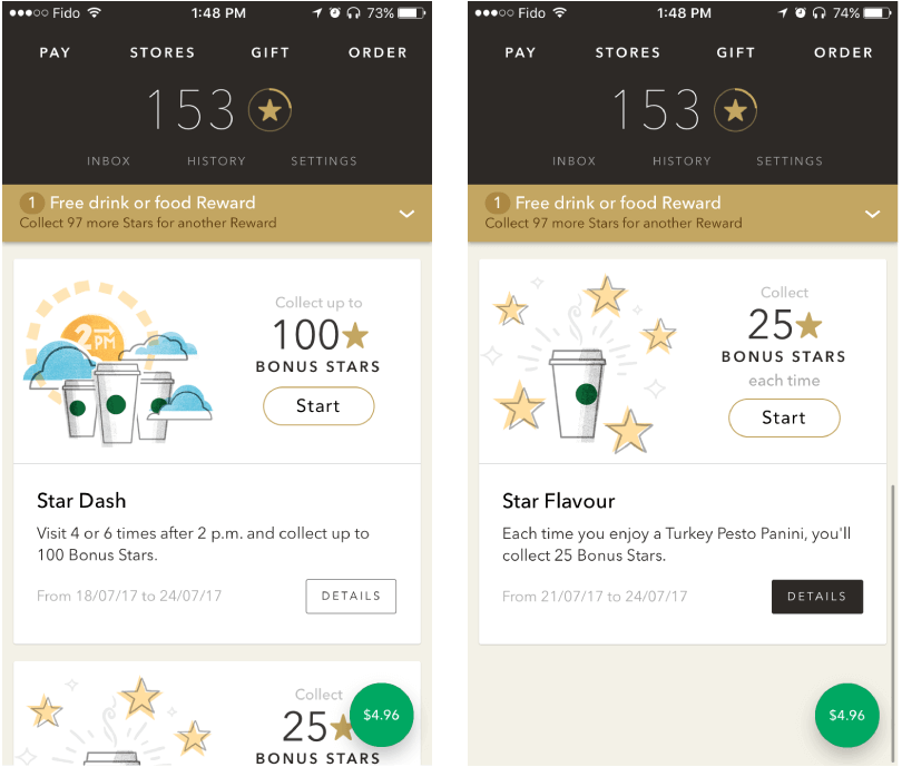 loyalty programs Starbucks  - Image 51 - How to Create On-demand Food Delivery App Like Dahmakan?