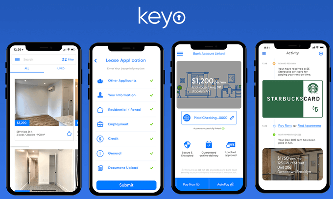 keyo-app  - keyo app - Want to Create On-Demand House Rental Apps? Real Estate Startups Need to Check Out Top 5 Unique Features