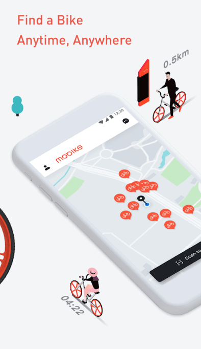 - find bike anytime - These Top 4 Features Can Make Your Bike Sharing App Successful Like Ofo