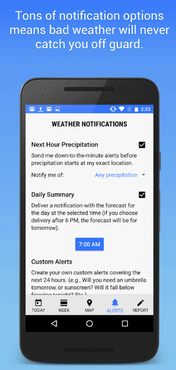 Push-Notification-Weather-app-development