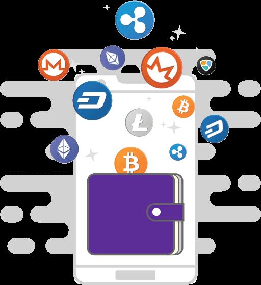 idea of cryptocurrency wallet app