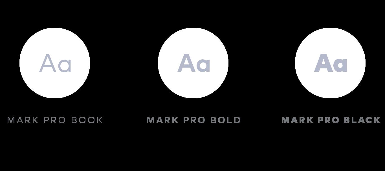 MyCircle app typography