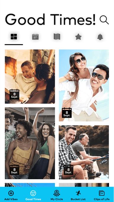 Share photos videos via MyCircle app
