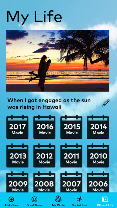 create life movie in MyCircle app