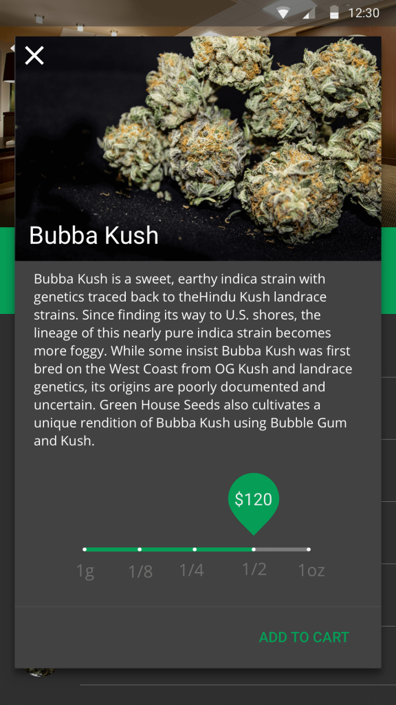 Weed delivery startup