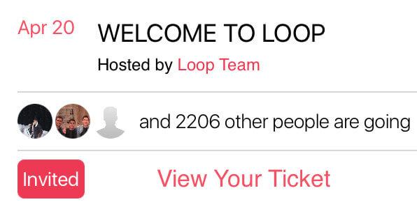 Loop App Features - Invitation