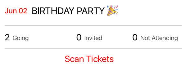 Loop app features - Hosting event