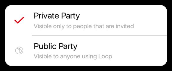 Loop app features - Event type