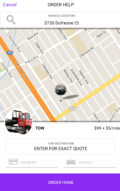 Uber-for-Towing-1  - Uber for Towing 1 - Include Top 4 Features of Honk Before Creating an App Like Uber for Towing