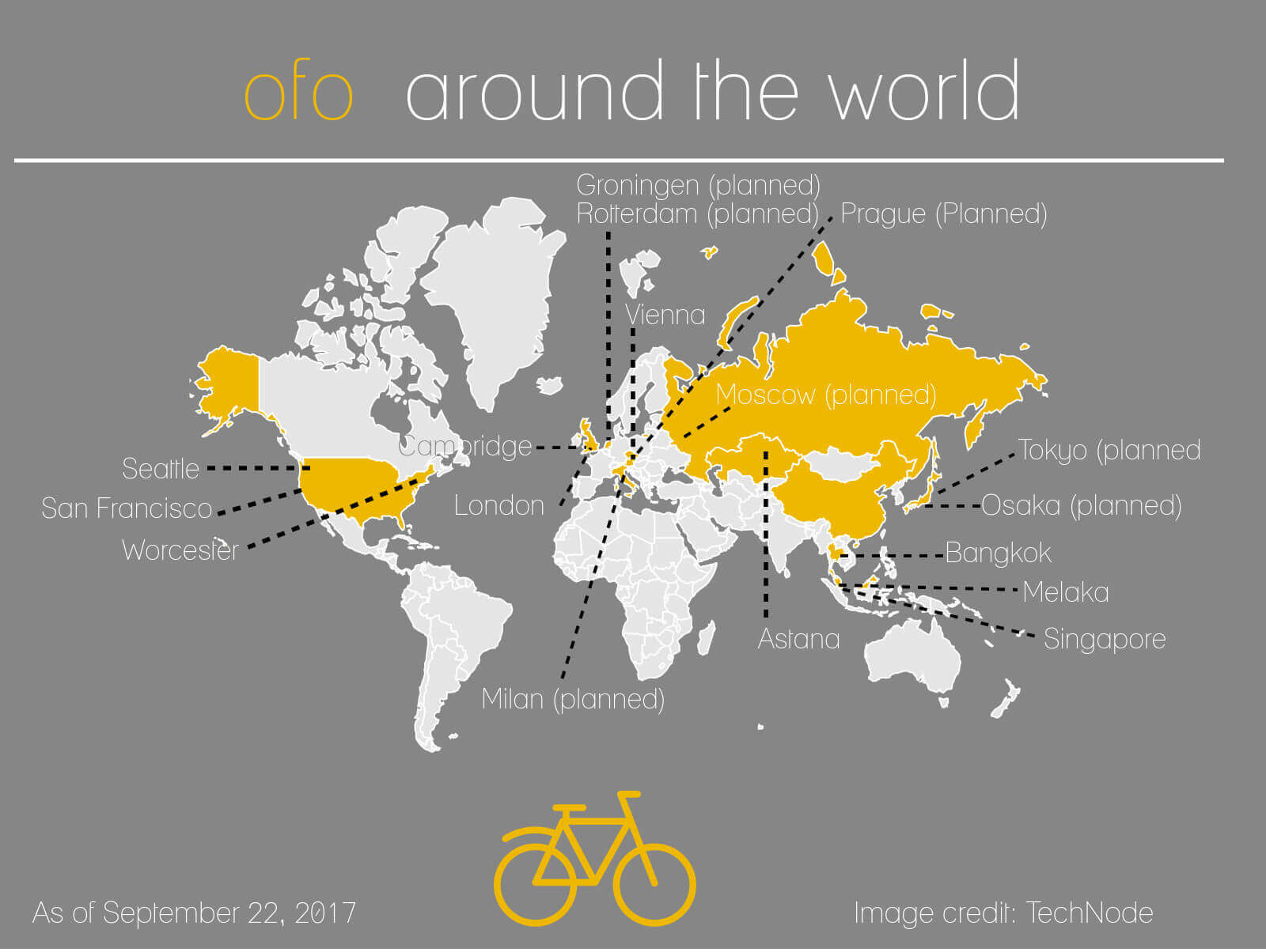 ofo-worldwide  - ofo worldwide - How Bike Sharing System Can Change the World
