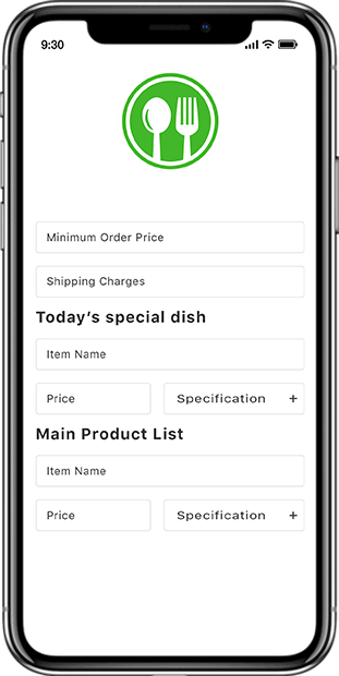 Restaurent Food app screen